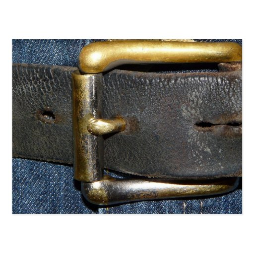 Worn out Leather Belt and Buckle Postcards