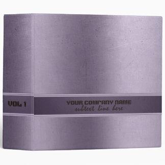 Worn-Out Metallic Purple Tint Stainless Steel 2 Binder