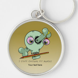 Worn Out Over Worked Teacher Funny Customizable Keychain