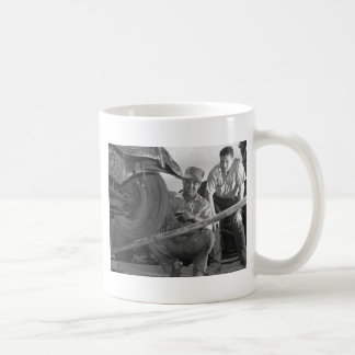 Worn Out Rubber, 1940s Classic White Coffee Mug