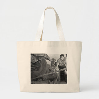 Worn Out Rubber, 1940s Large Tote Bag