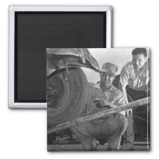 Worn Out Rubber, 1940s 2 Inch Square Magnet