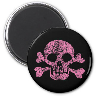 Worn Out Skull and Crossbones Magnet