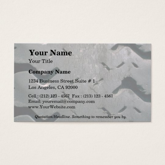 Worn-out tire business card