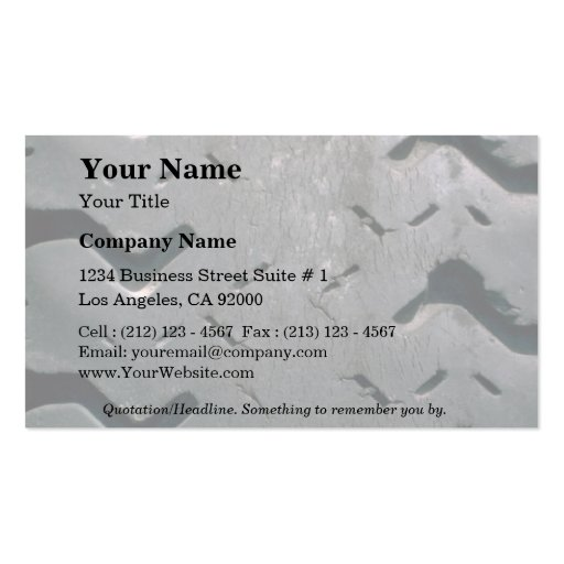 Worn-out tire business card templates