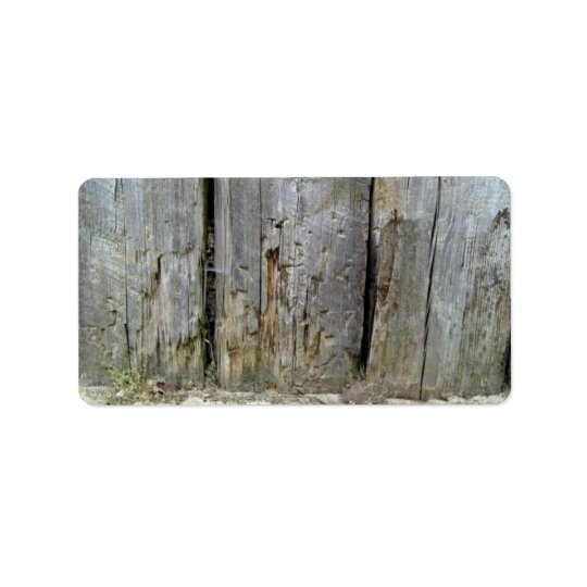 Worn out tree trunks label