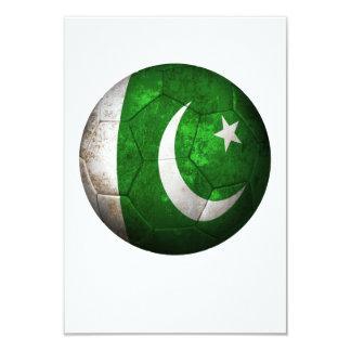 Worn Pakistani Flag Football Soccer Ball 3.5x5 Paper Invitation Card