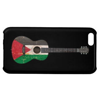 Worn Palestinian Flag Acoustic Guitar, black Case For iPhone 5C