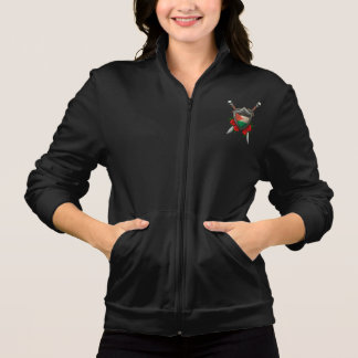Worn Palestinian Flag Shield and Swords with Roses Jacket