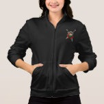Worn Palestinian Flag Shield and Swords with Roses Printed Jackets