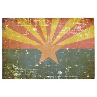 Worn Patriotic Arizona State Flag Metal Print