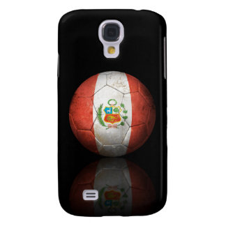 Worn Peruvian Flag Football Soccer Ball Samsung Galaxy S4 Cases