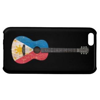 Worn Philippines Flag Acoustic Guitar, black iPhone 5C Cases