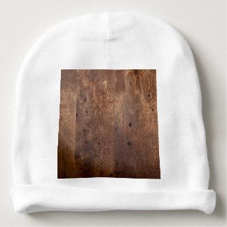 Worn pine board baby beanie