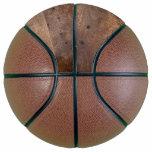 Worn pine board basketball