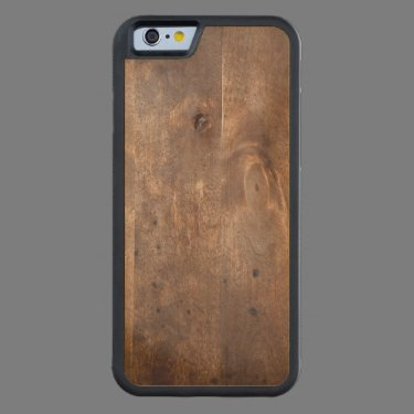 Worn pine board carved® maple iPhone 6 bumper case