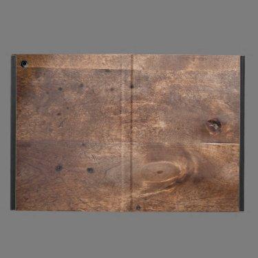 Worn pine board case for iPad air