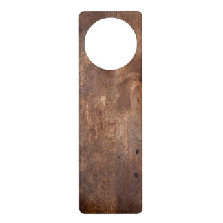 Worn pine board door hanger