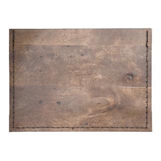Worn pine board tyvek® card case wallet