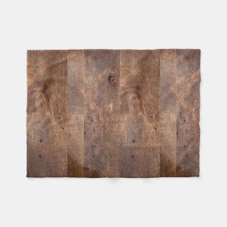 Worn pine board fleece blanket