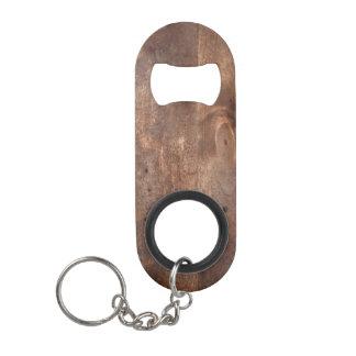 Worn pine board keychain bottle opener