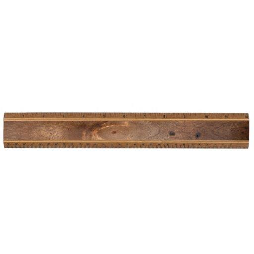Worn pine board maple ruler