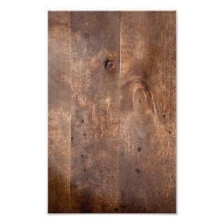 Worn pine board photo print