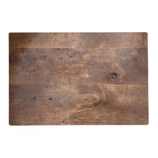 Worn pine board placemat