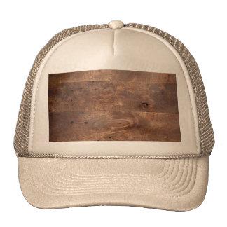 Worn pine board trucker hat
