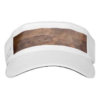 Worn pine board visor
