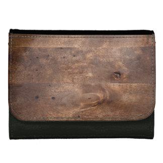 Worn pine board wallets