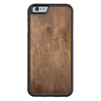 Worn pine board carved® maple iPhone 6 bumper
