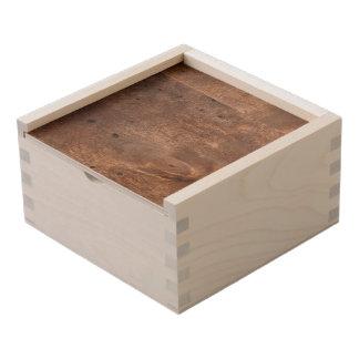 Worn pine board wooden keepsake box