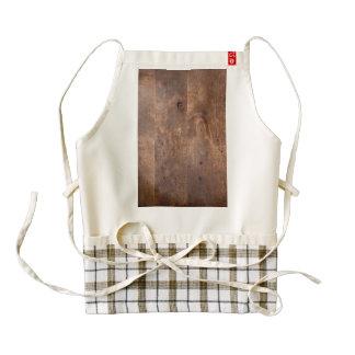 Worn pine board zazzle HEART apron