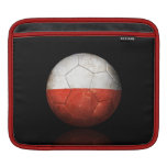 Worn Polish Flag Football Soccer Ball iPad Sleeves