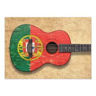 Worn Portuguese Flag Acoustic Guitar Announcements
