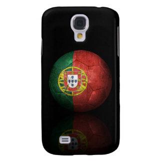 Worn Portuguese Flag Football Soccer Ball Samsung Galaxy S4 Cases
