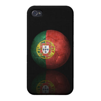 Worn Portuguese Flag Football Soccer Ball iPhone 4 Cases