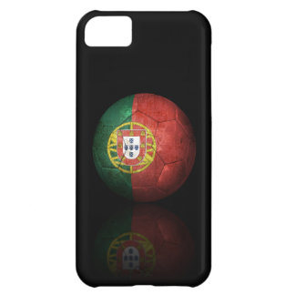 Worn Portuguese Flag Football Soccer Ball iPhone 5C Case