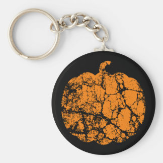 Worn Pumpkin Motif Keychain