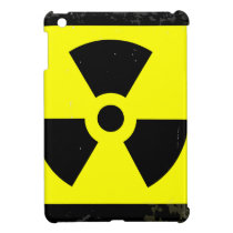 Worn Radioactive Warning Symbol iPad Mini Cover