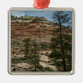 Worn Rock Walls in Zion National Park Metal Ornament
