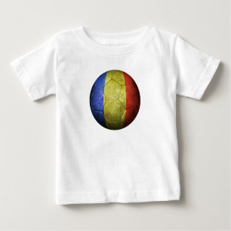 Worn Romanian Flag Football Soccer Ball Baby T-Shirt