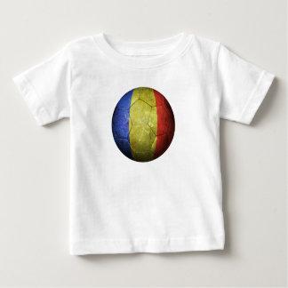 Worn Romanian Flag Football Soccer Ball Shirt