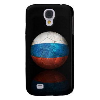 Worn Russian Flag Football Soccer Ball Galaxy S4 Cases