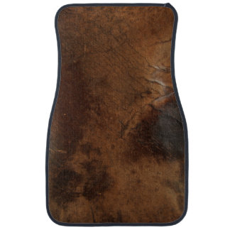 Worn Saddle Faux Leather Car Mat
