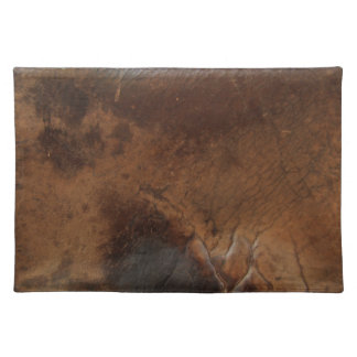 Worn Saddle Faux Leather Placemat