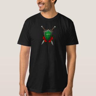 Worn Saudi Arabia Flag Shield with Red Roses T-Shirt