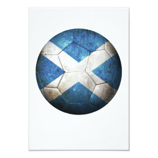 Worn Scottish Flag Football Soccer Ball Card