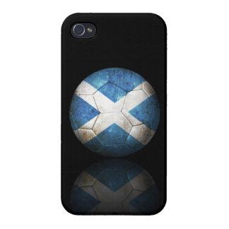 Worn Scottish Flag Football Soccer Ball iPhone 4/4S Cover